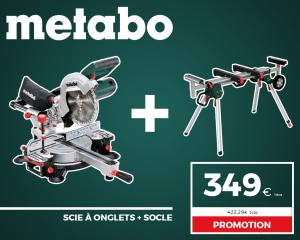 PROMO METABO - SCIE À ONGLETS + SOCLE OFFERT
